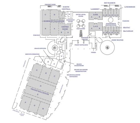 hyatt regency chicago floor plan venues hyatt regency o hare chicago