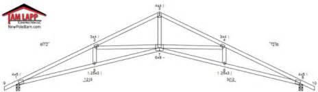 barn roof truss pole barn roof truss designs tam lapp construction llc