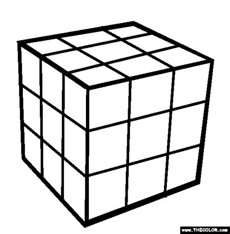 rubiks cube coloring page free rubiks cube