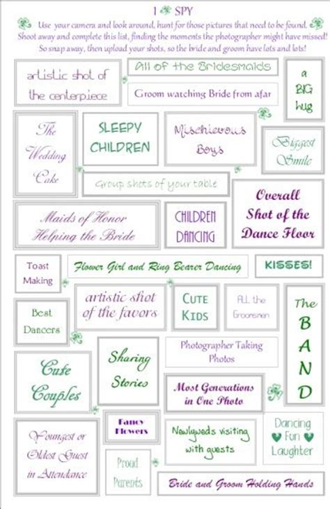 Best 25 Wedding Scavenger Hunts Ideas On Pinterest Kids Picnic Games Wedding Game Wedding Photo Scavenger Hunt Template