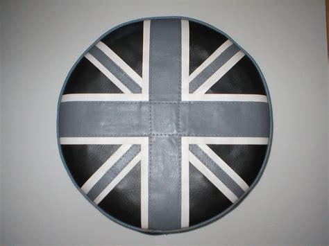 Vespa Union Wheel Shape Bag grey white and black union spare wheel cover p k trim