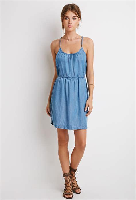 light blue dress forever 21 lyst forever 21 contemporary life in progress denim
