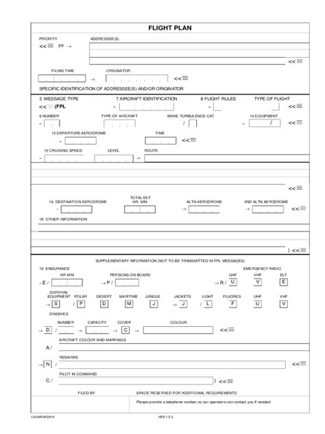 flight plan template flight plan form 5 free templates in pdf word excel