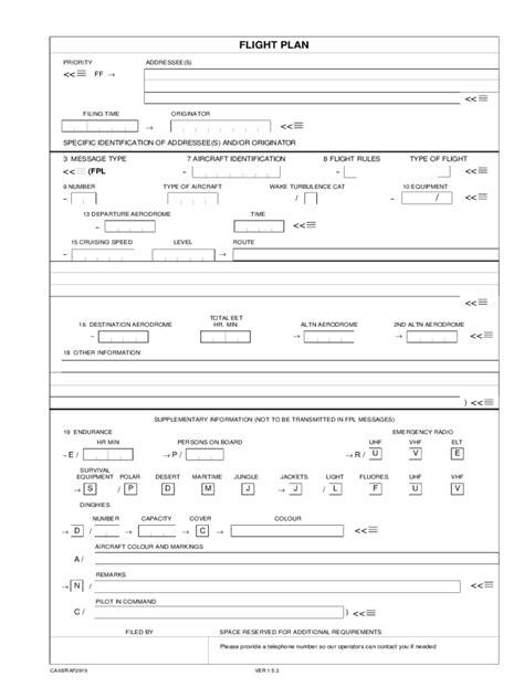flight plan template flight plan form 5 free templates in pdf word excel