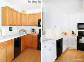 white kitchen cabinets before and after home tour