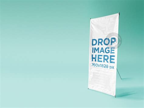 backdrop design mockup placeit banner mockup at a photo studio over a solid