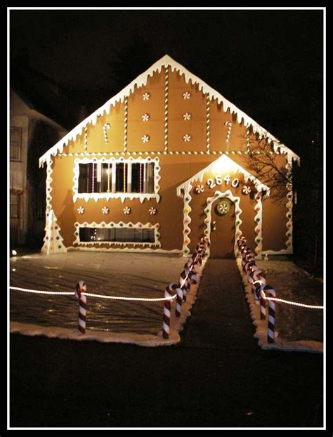 life size gingerbread house inspiration christmas