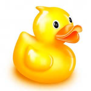 Rubber ducky wall sticker the bathtub a bath