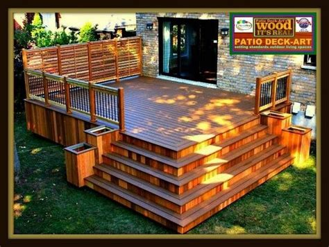 Patio Cedre by Patios Bois Modele Design Plan Ipe Deck Cedre Trex
