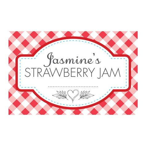 Aufkleber Marmeladenglas by Gingham Jam Jar Labels Able Labels