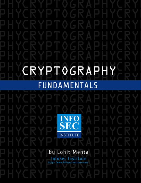 digital watermarking and steganography fundamentals and techniques books cryptography fundamentals infosec resources
