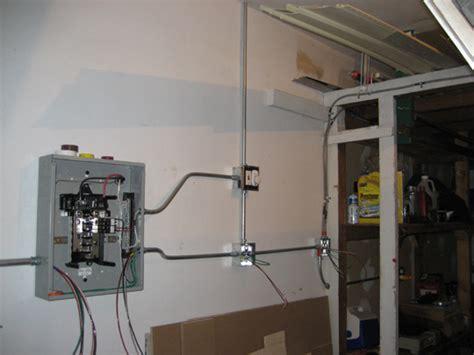 Garage Sub Panel by Garage Subpanel Installation Emt Electrical Diy