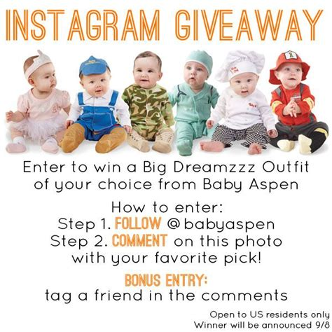 How To Pick A Winner On Instagram Giveaway - 1000 images about baby aspen giveaways on pinterest pilot costumes enter to win