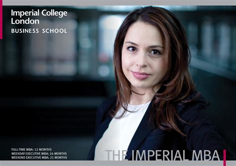 Imperial Mba Weekend by Imperial Mba Brochure By Imperial College Business School