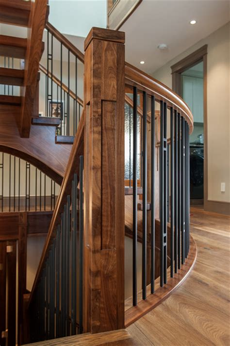Home Design And Remodeling Show Walnut Stair Craftsman Staircase Other Metro By