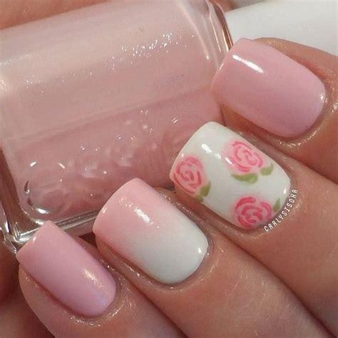 imagenes uñas decoradas rosas dise 241 os de u 241 as 2017 para pies con flores