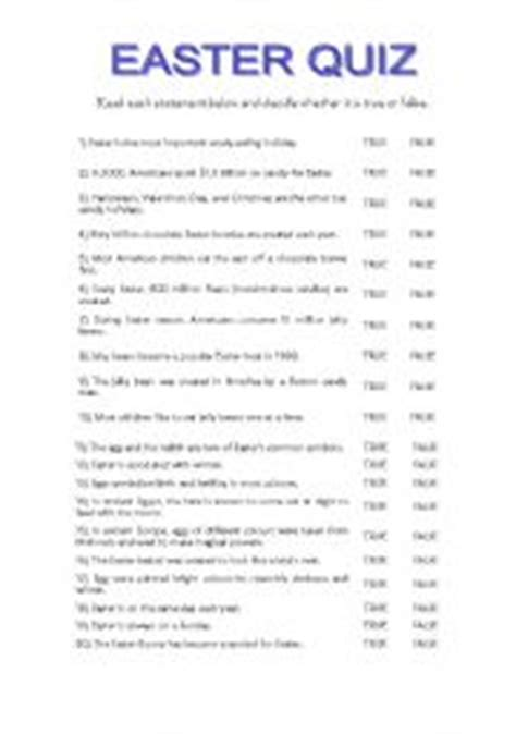 printable easter quiz for adults english worksheets easter quiz