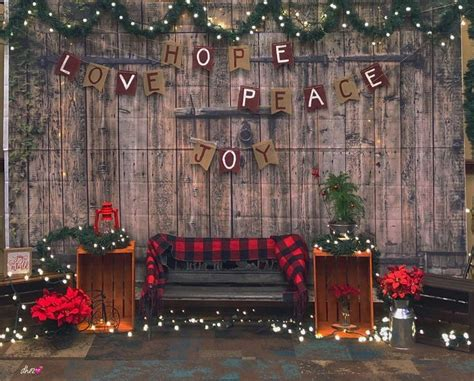 rustic christmas backdropstage christmas party