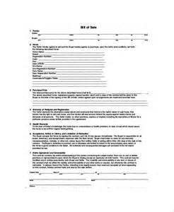sample bill of sale 20 examples in pdf
