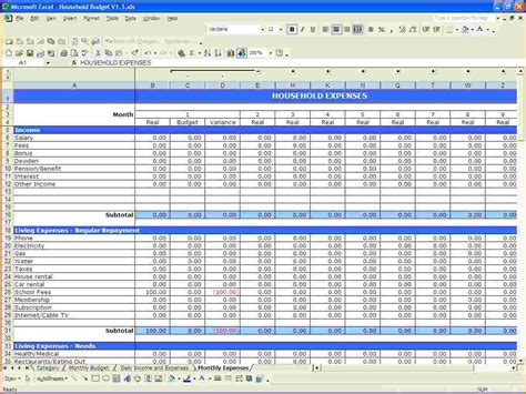 budgeting template excel excel budget template excel travel budget worksheet jpg