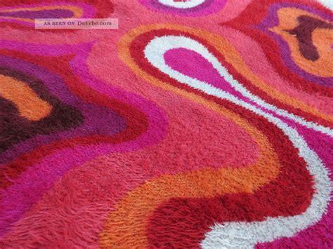 teppiche 70er jahre teppich 70er hochflor psychodelic carpet flower power