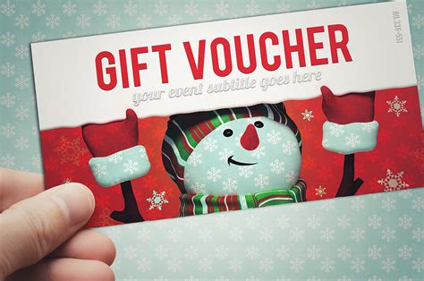 christmas gift voucher card templates creative market