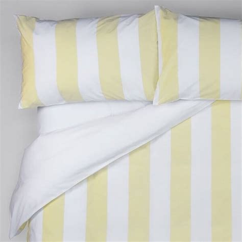 Yellow And White Striped Duvet Cover wide stripe duvet cover yellow white