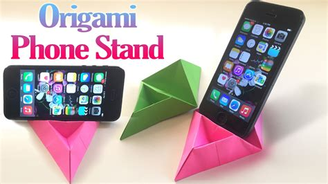 How To Make A Paper Cell Phone - origami cell phone holder origami maker easy