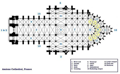 floor plan of gothic cathedral file amiens cathedral floorplan jpg wikimedia commons