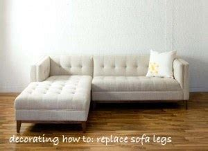 how to install sofa legs decorating how to replace your sofa legs good with style