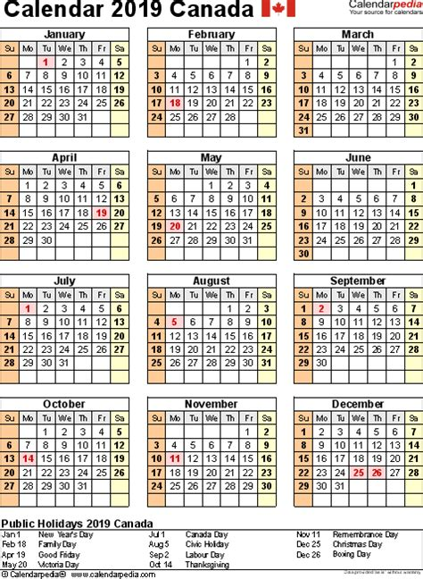 Work Online From Home Canada Free - 2019 calendar canada calendar for 2019