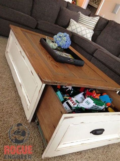 diy coffee table with storage 20 clever storage ideas diy coffee table