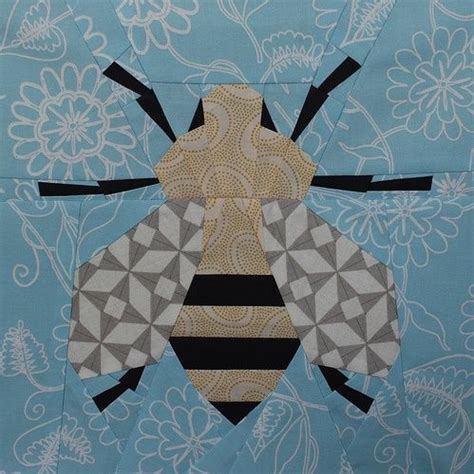 Bee Quilt Pattern Free by Paper Pieced Honey Bee Your Pet Bed Quilting