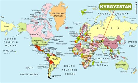 kyrgyzstan in world map kyrgyzstan in world map