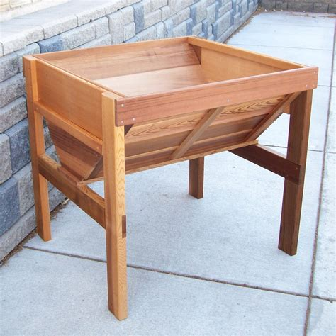wood country cedar wood vegetable raised planter box