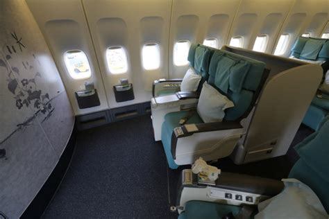 Airline Sleeper Seats by Review Korean Air Class B747 400 Seoul Incheon To