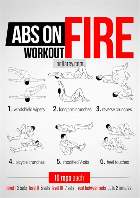 20 stomach burning ab workouts from neilarey exercise abs on workout workout