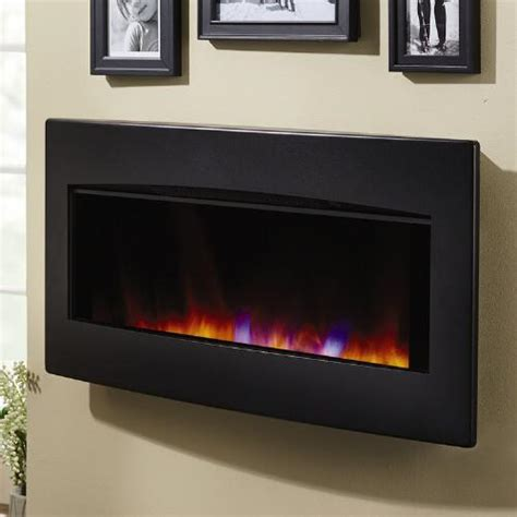 wall mounted fireplace with remote