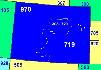 what us area code is 719 area code 719 information