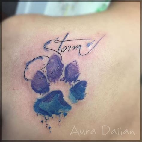 watercolor tattoo paw image result for paw print watercolor tattoos