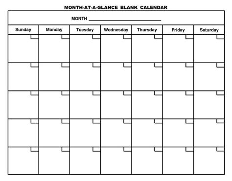 blank calendar year blank calendar printable