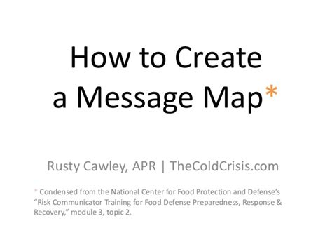 How To Create A Message Map Marketing Message Map Template
