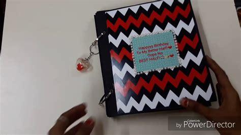 tutorial scrapbook diy scrapbook tutorial diy for bf gf birthday diy crafts
