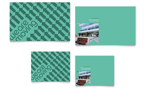 note card design template office moving note card template design