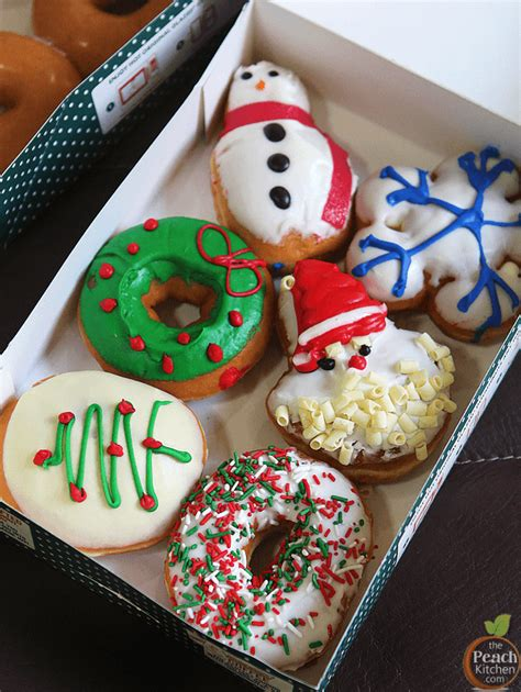 Holiday Cheer with Krispy Kreme Christmas Doughnuts   The Peach Kitchen