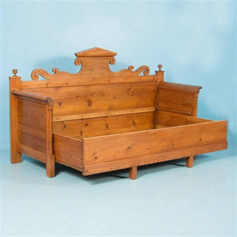 vintage storage bench antique swedish pine storage bench circa 1820 1840 at 1stdibs