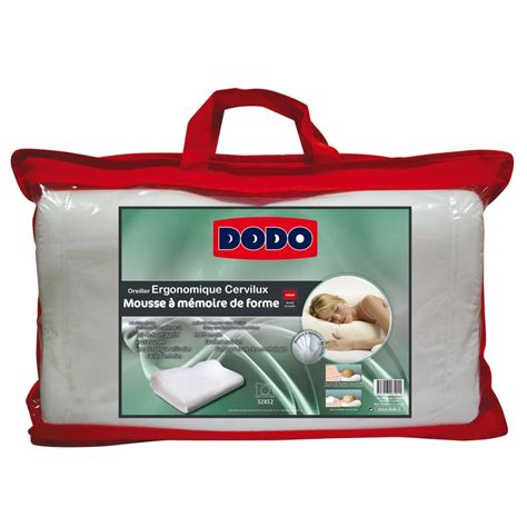 dodo oreillers oreiller ergonomique cervilux dodo 174 blancheporte