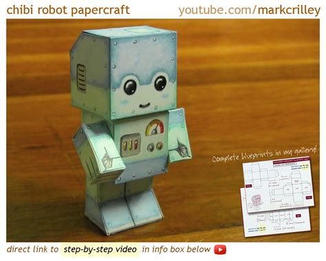 Make A Paper Robot - how to make a paper craft chibi robot atomic moo