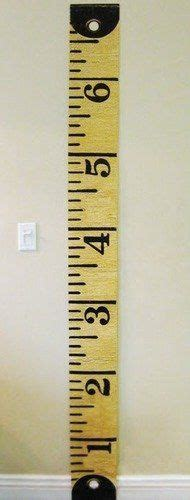 printable ruler legal hand painted wooden growth chart ruler to hang on the wall