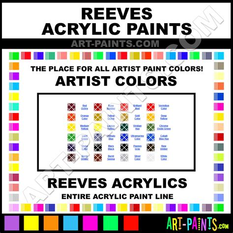 reeves artist acrylic paint colors reeves artist paint colors artist color artist acrylics